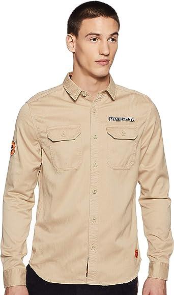 Superdry - Camisa de hombre con parches Rookie Repair: Amazon.es: Ropa y accesorios
