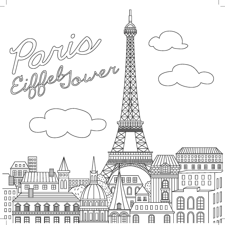Coloring Page Girl In Paris Coloring Sacre Coeur Paris