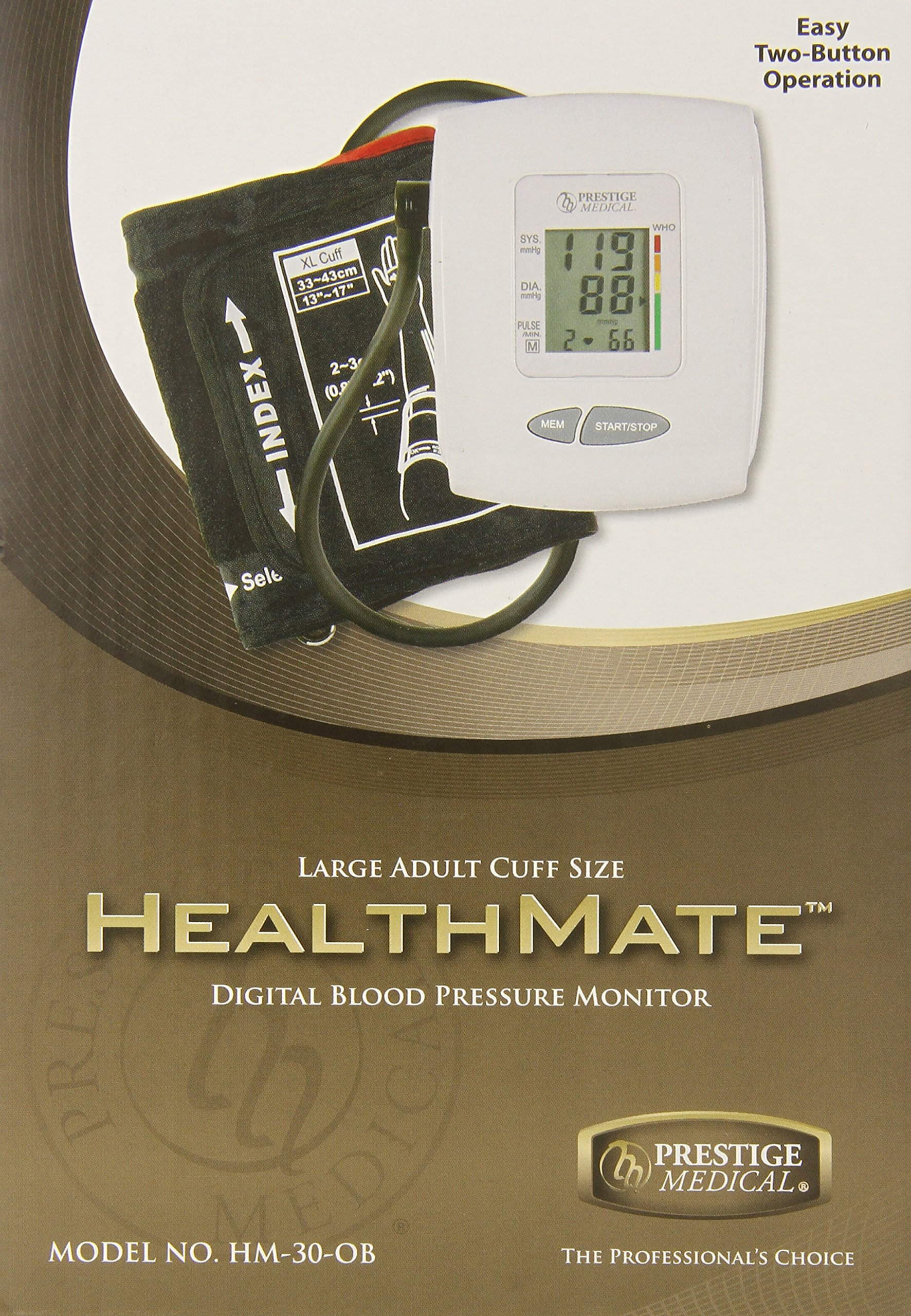 Prestige Medical HM-30-OB Large Adult Healthmate Digital Blood Pressure Monitor