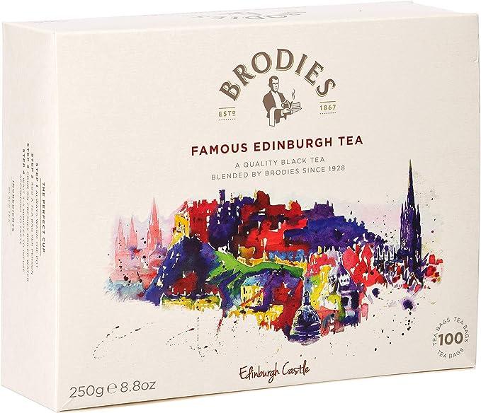 Brodies Famous Edinburgh Tea (100 Untagged Tea Bags)