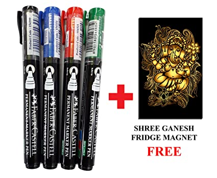 PK OF 5 THICK BLACK//BLUE//RED//GREEN BIC PERMANENT MARKER PEN