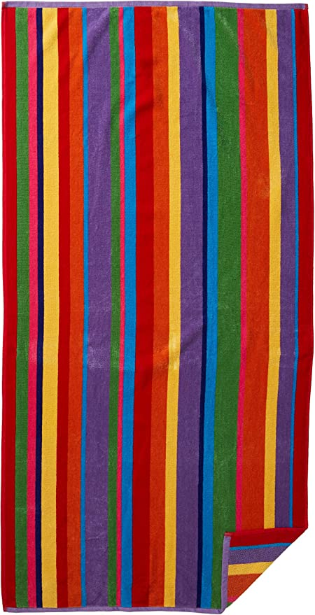 Oversized Woven Velour Beach Towel Huge 58x68-inch Size 100/% Cotton Craft
