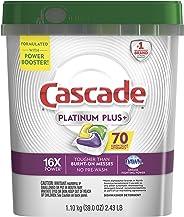 Cascade Platinum Plus Dishwasher Pods, Actionpacs Dishwasher Detergent, Lemon Scent, 70 Count