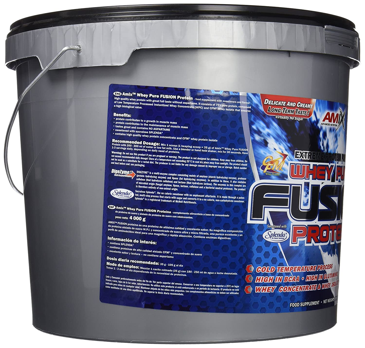 Amix Whey Pure Fusion, Proteínas, 4000 g
