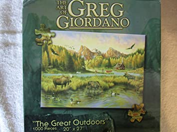 "The Art of Greg Giordano - ""The Great Outdoors"" - 1000 Piece Puzzle"