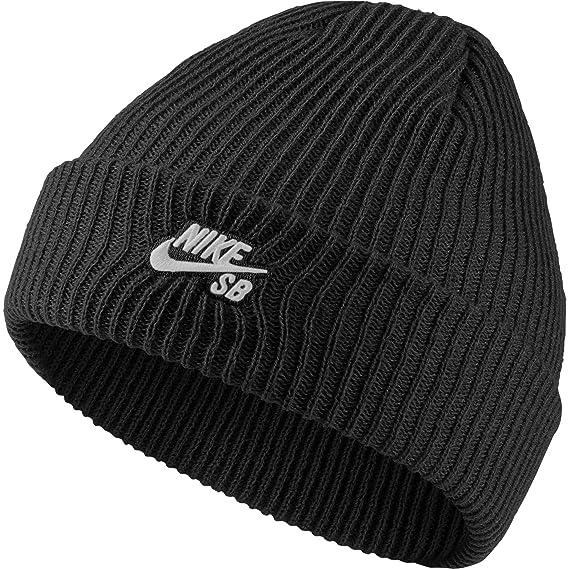 best loved 2c1c5 31546 Nike Mens SB Fisherman Skull Cap Beanie Black White  Amazon.ca  Clothing    Accessories