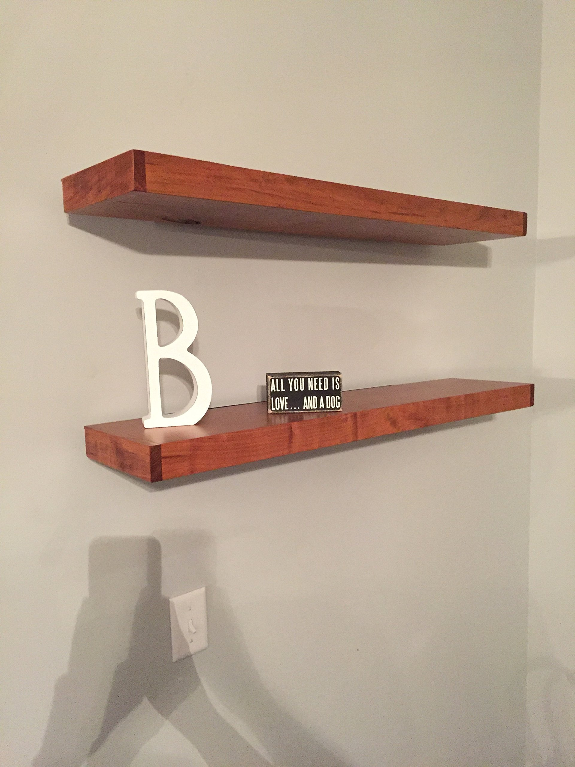 32'' Floating Shelf Heavy Duty Solid Steel Bracket- For 36'' + Shelves MADE IN THE USA! by Walnut Wood Works (Image #3)
