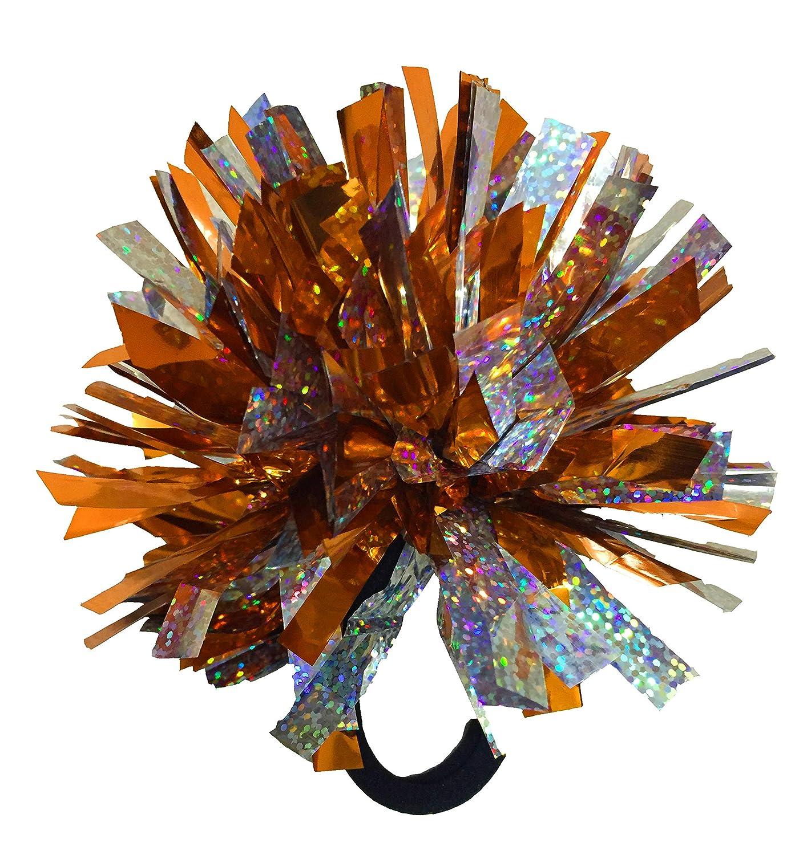 kuugear Set 3, tragbare 2-Color 2' Metallic Pompons fü r Cheerleading, Team Geist, Party Kostü m, Pferdeschwanz Halter, Feiertagsfeier und Dekor tragbare 2-Color 2 Metallic Pompons fü r Cheerleading Jawl