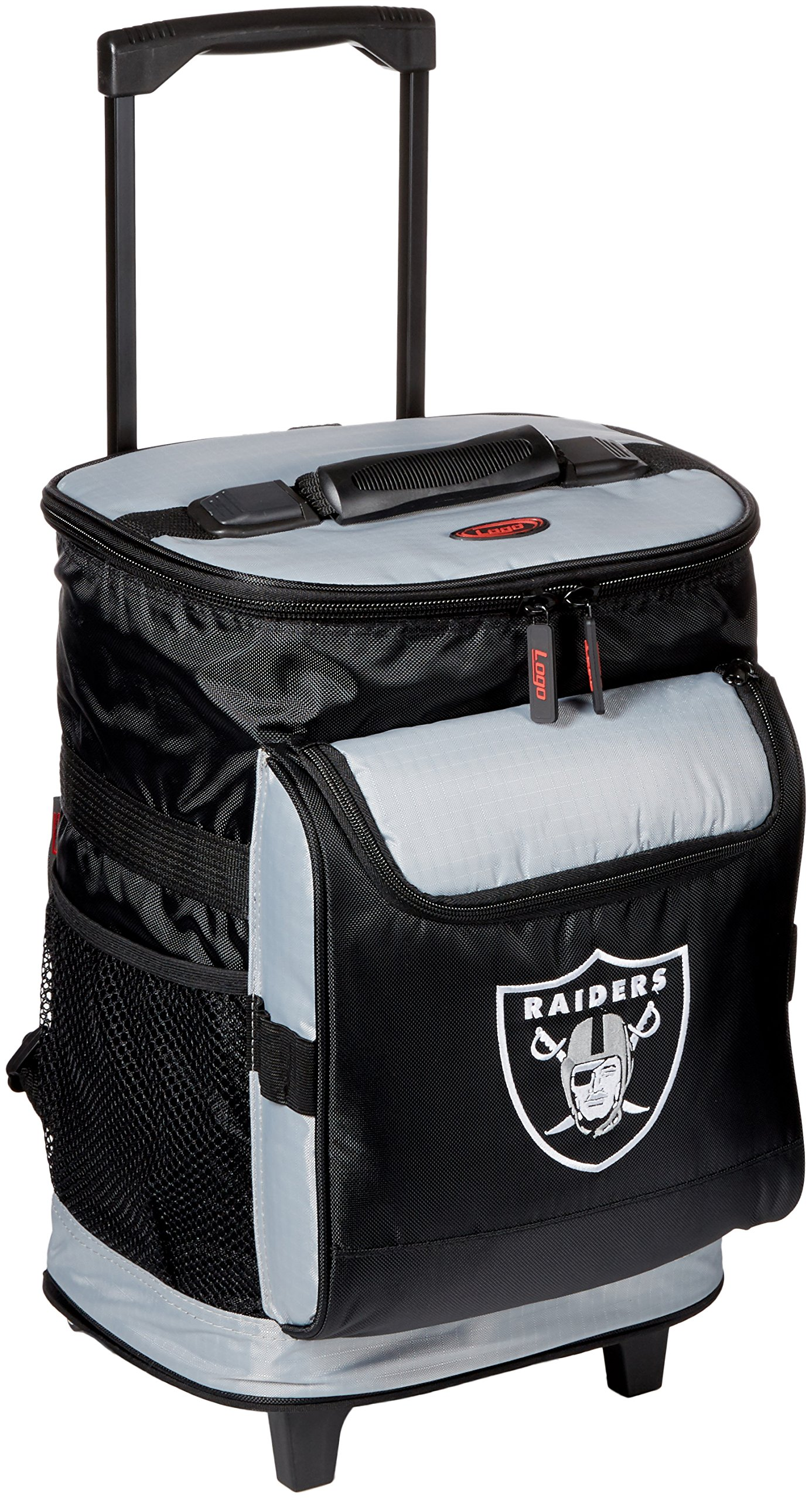 Logo Brands 48-Can Rolling Cooler with Wheels and Backpack Straps