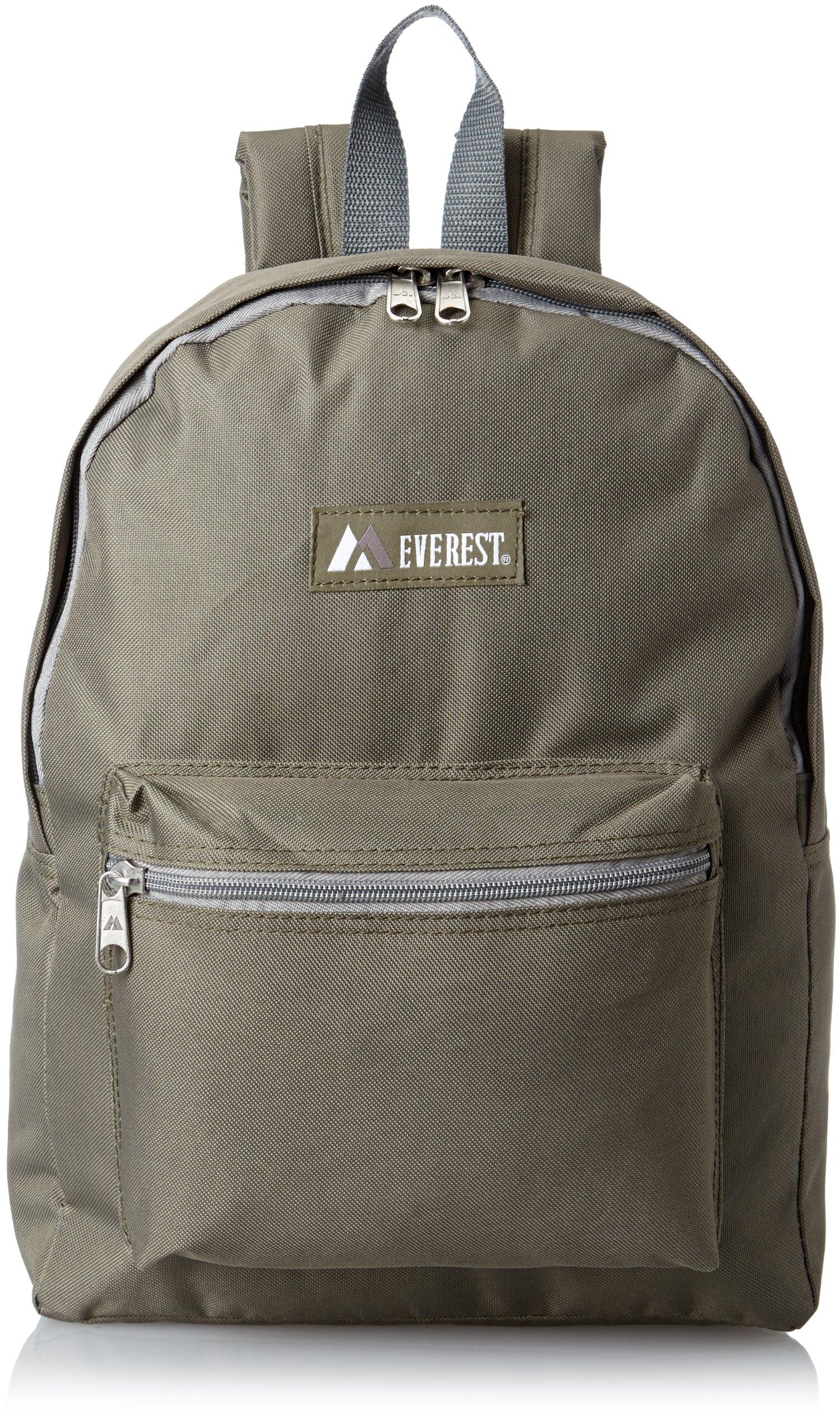 Everest Basic Backpack, Olive, One Size