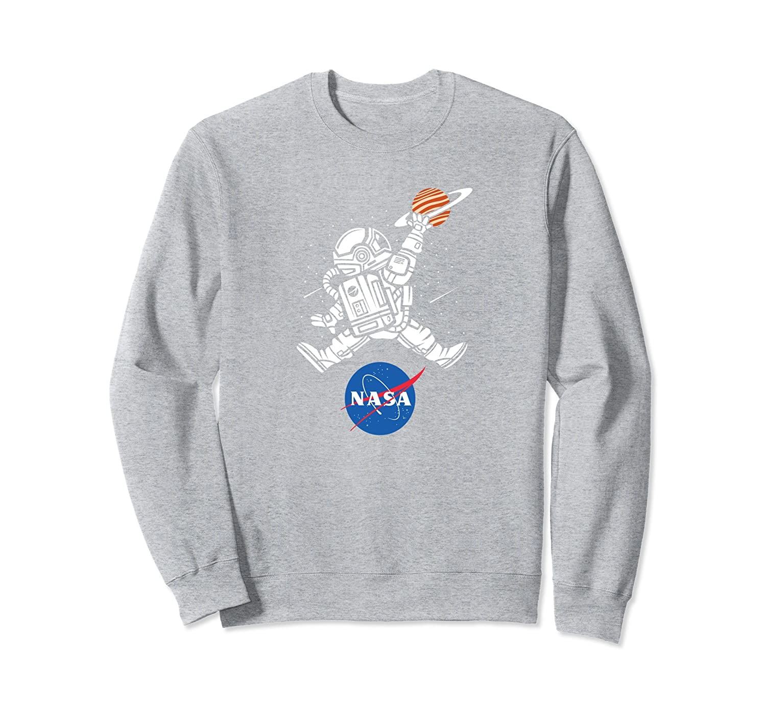 Astronaut Basketball League Slam Dunk NASA Sweatshirt-AZP