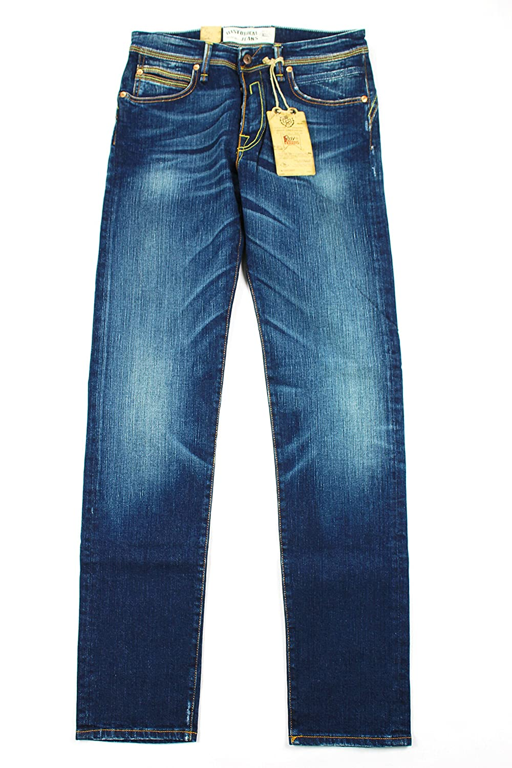 Roy Roger's Mens Classic Straight Leg Jeans - Blue Cotton