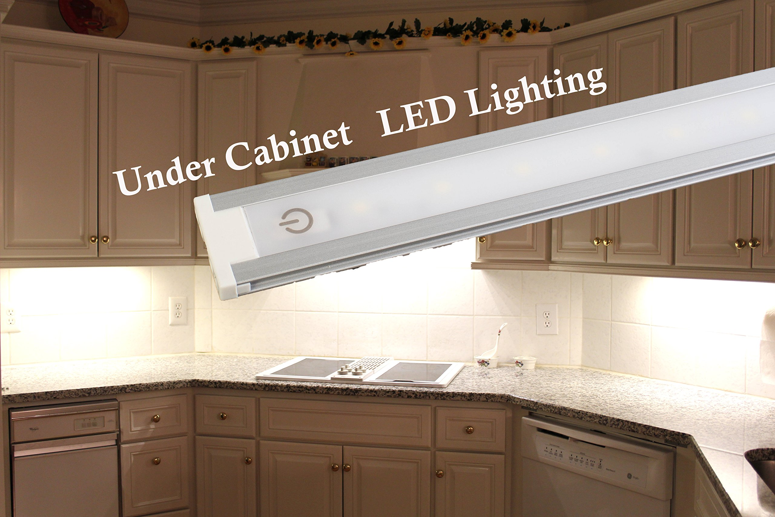 LEDupdates 24 inches Under Cabinet LED light for work shop & closet with UL Power adapter