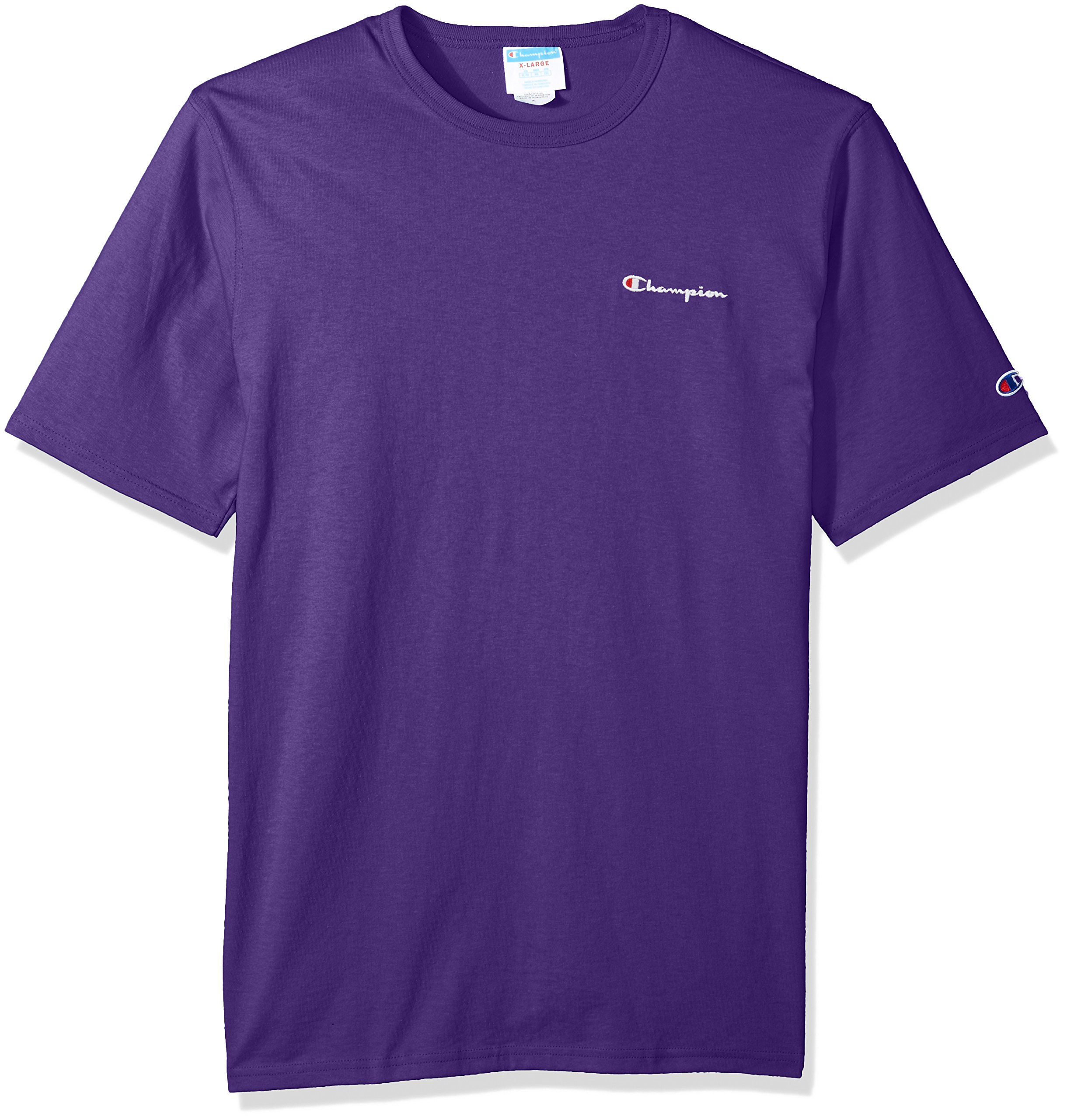 Champion LIFE Men's Heritage Tee, Purple Script Embroidery, XL