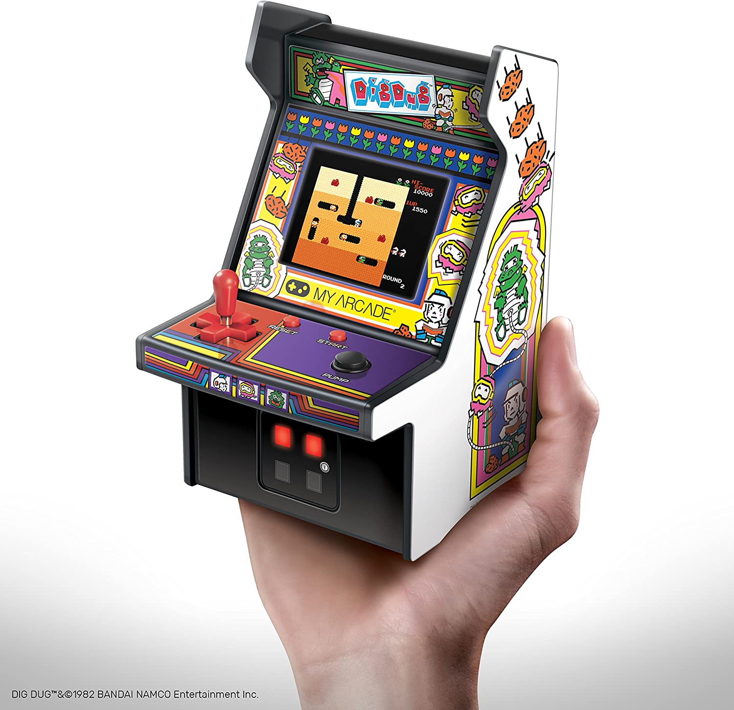 Amazon Com My Arcade Dig Dug Micro Player White 3221 Toys Games Miss dig is michigan's only utility safety notification system. my arcade dig dug micro player white 3221