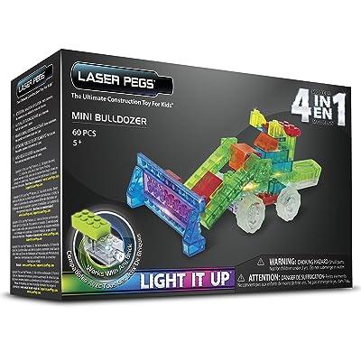 Laser Pegs Mini Bulldozer Building Kit: Toys & Games