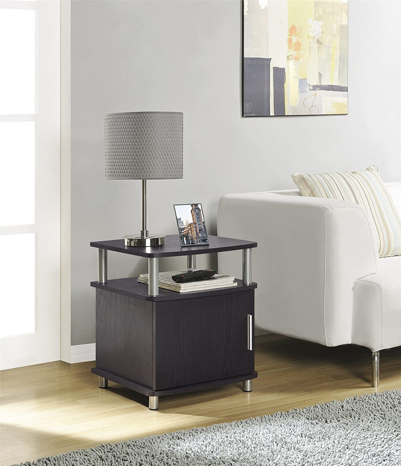 Charming Amazon.com: Altra Carson End Table With Storage, Espresso/Silver: Kitchen U0026  Dining
