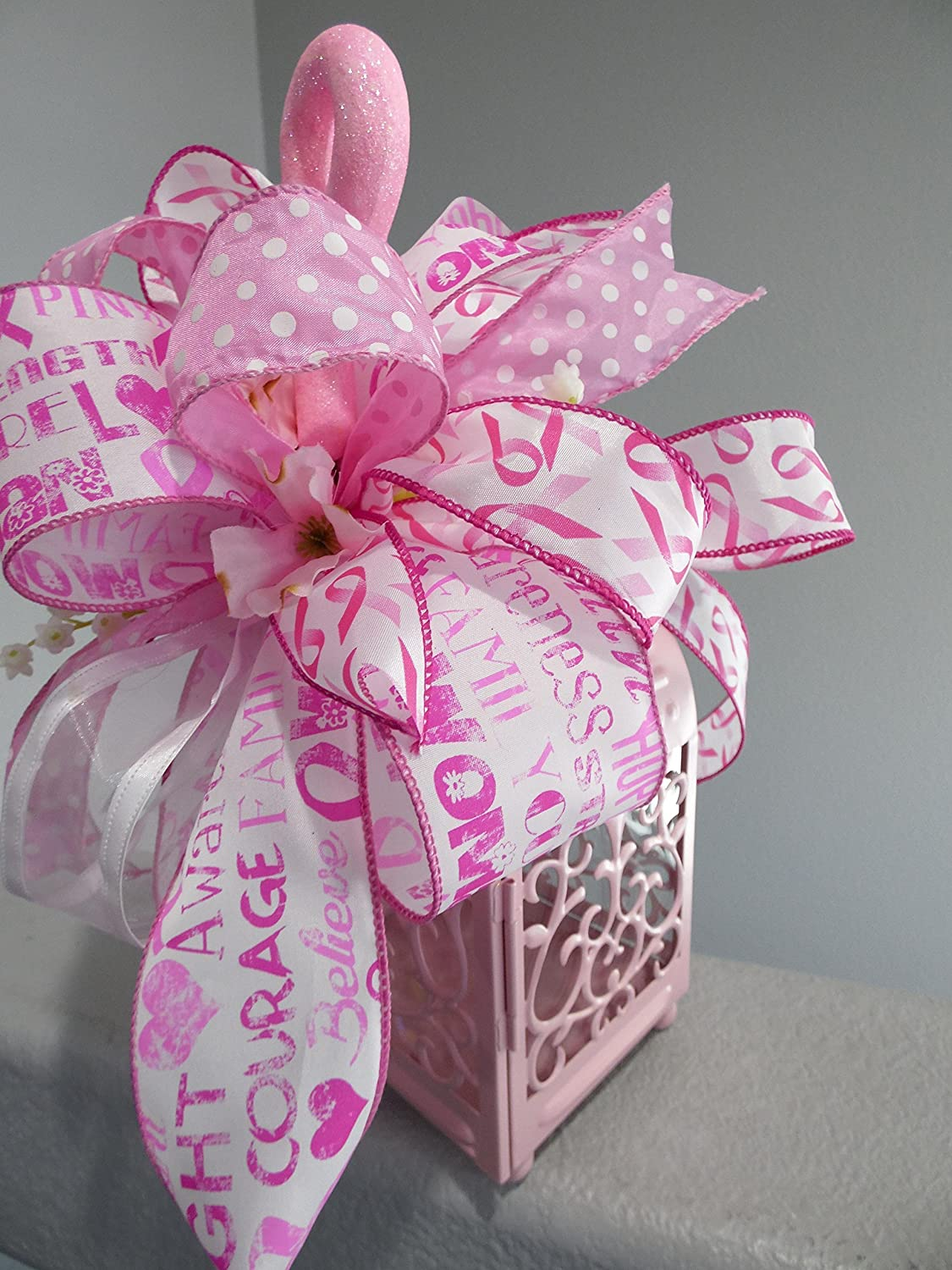 Amazon.com: Breast Cancer Awareness Table Centerpiece, Breast Cancer ...