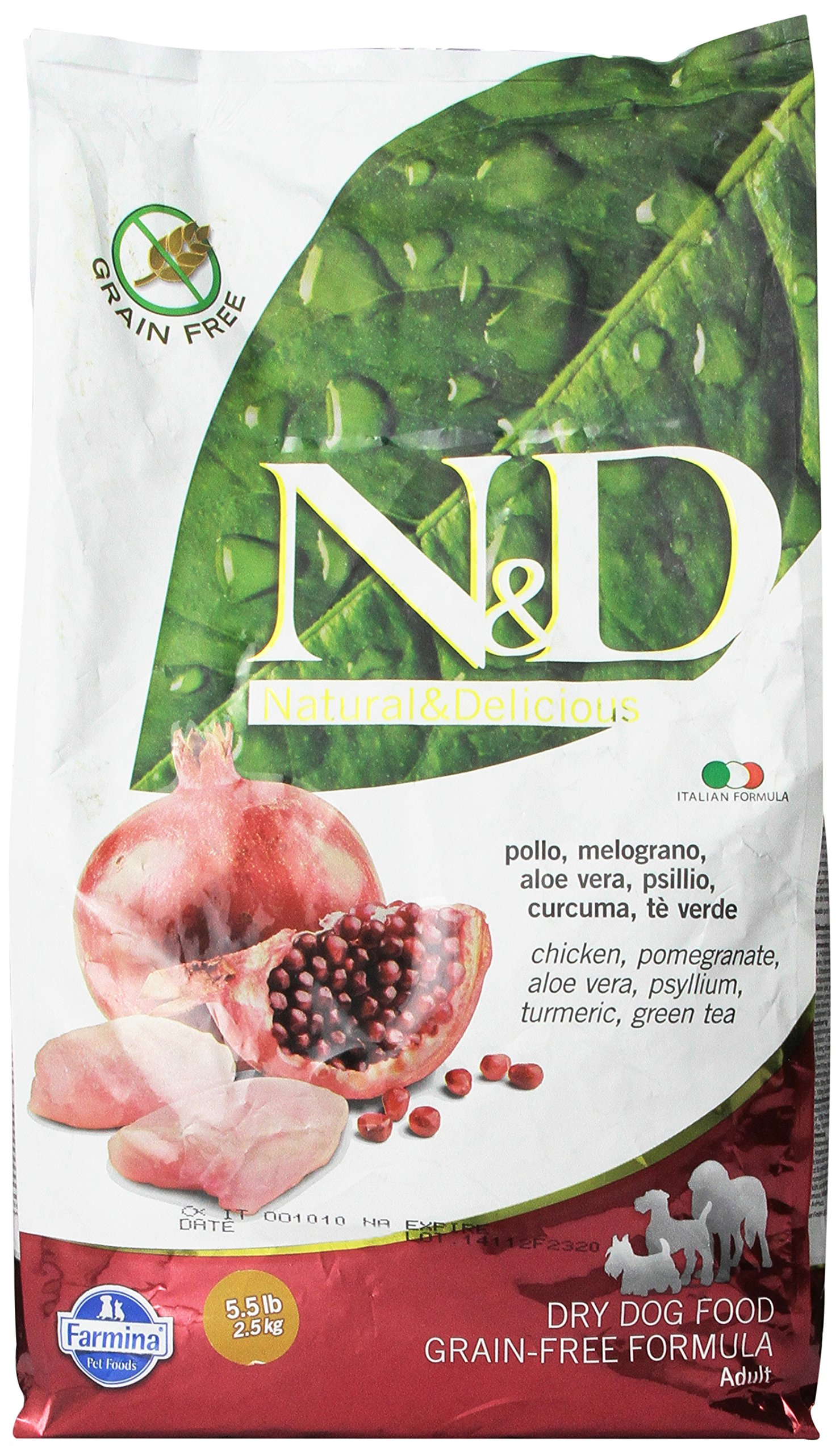 Farmina N D Grain Free Dry Dog Food Chicken And Pomegranate 2 5 Kg Buy Online In Germany At Desertcart De Productid 73930912