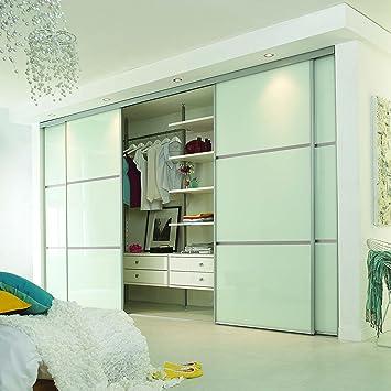 Puerta corredera de armario Set; 4 puerta; a medida lineal 3 Panel diseño. Para adaptarse a cualquier anchura de 2150 mm – 3550 152 mm (1 ins – 11 FT 8 ins)