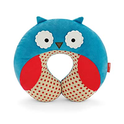 Skip Hop Zoo Little Kid and Toddler Travel Neck Rest, Soft Plush Velour, Multi Otis Owl: Baby