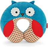 Skip Hop Zoo Little Kid and Toddler Travel Neck Rest, Soft Plush Velour, Multi Otis Owl