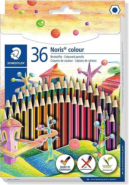 Staedtler Noris 185 CD36 Lápices Ecológicos, Caja Con36 Lápices de Colores Variados: Amazon.es: Oficina y papelería