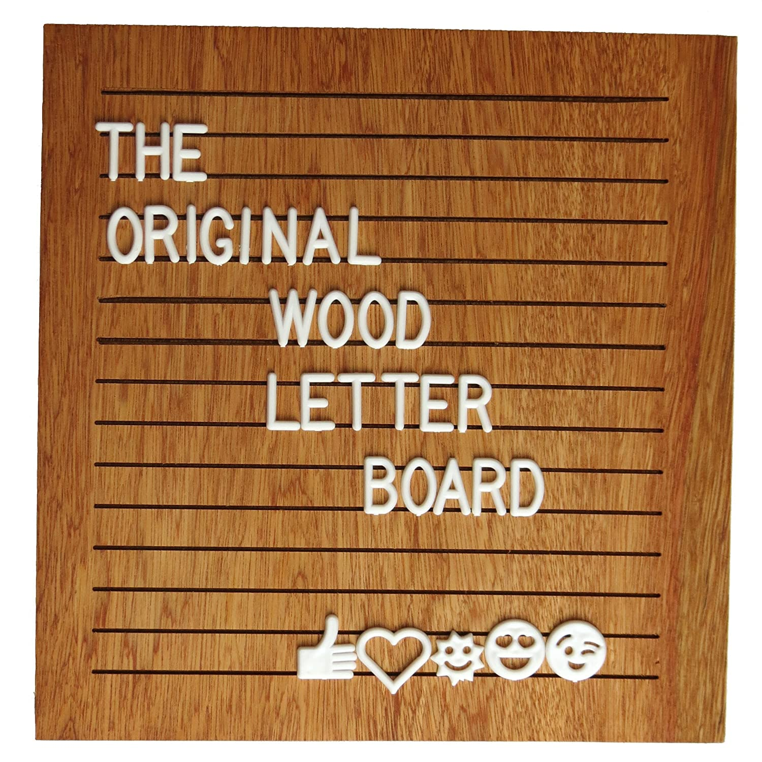 10x10 Inch Wood Letter Board with 340 White Letters Numbers and Symbols Changeable Wooden Message Board Sign with Free Scissors Black Plastic stand Canvas Bag