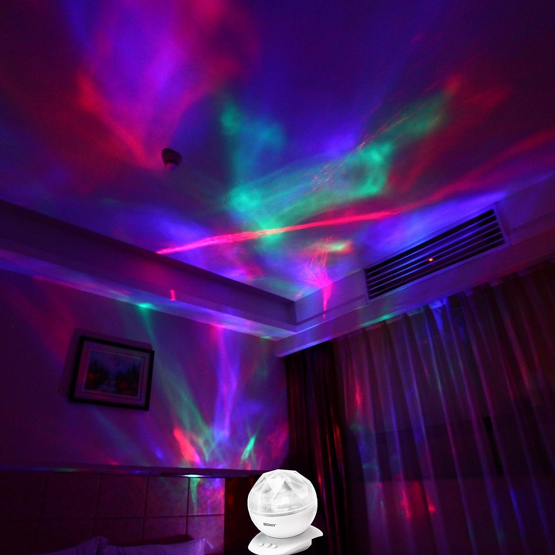 Night Stars Bedroom Lamp Amazoncom Soaiy Remote Sleep Soothing Aurora Night Light
