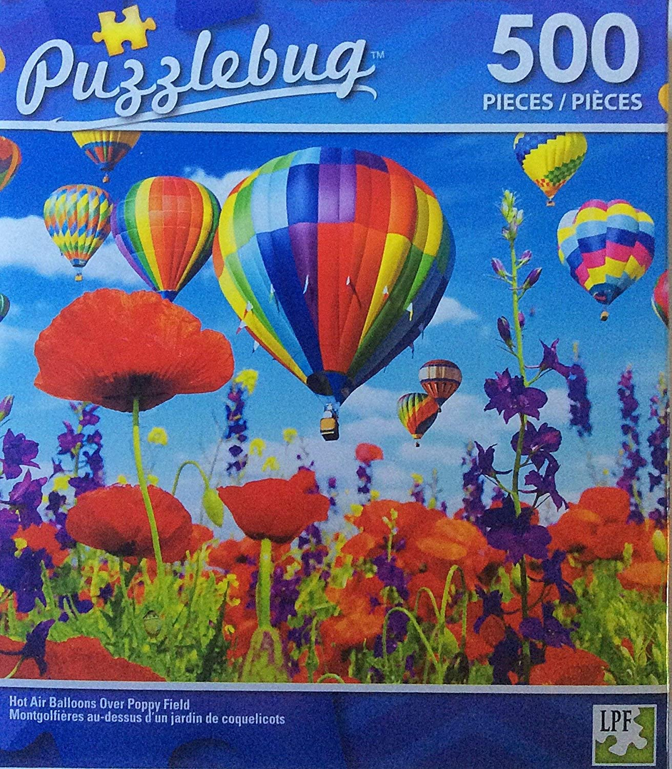 Puzzlebug Hot Air Balloons over Poppy Fields 500 pieces