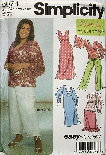 Amazon Simplicity Sewing Pattern 5074 Khaliah Ali Womens Dress