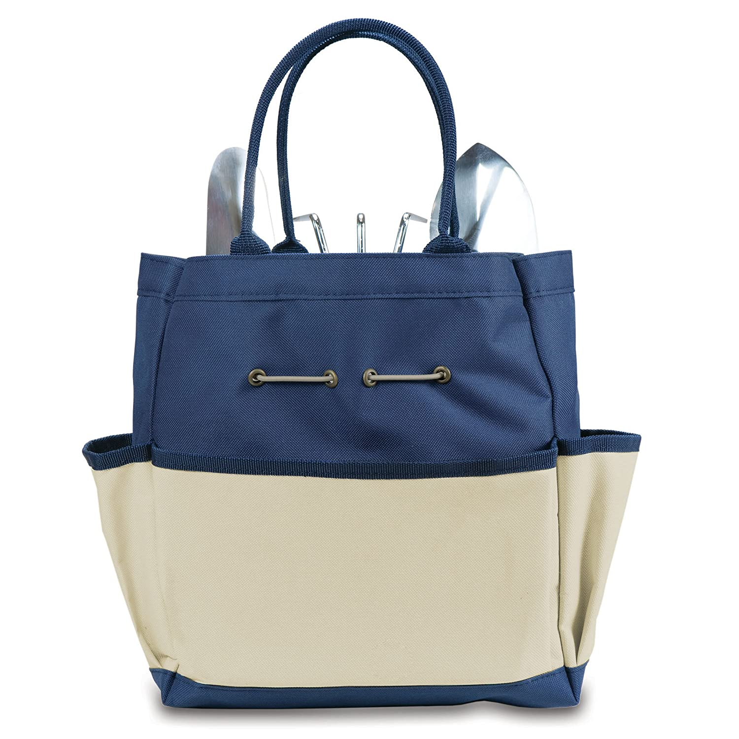 Amazon.com: Picnic Time U0027Garden Toteu0027 With Tools, Navy/Cream: Sports U0026  Outdoors
