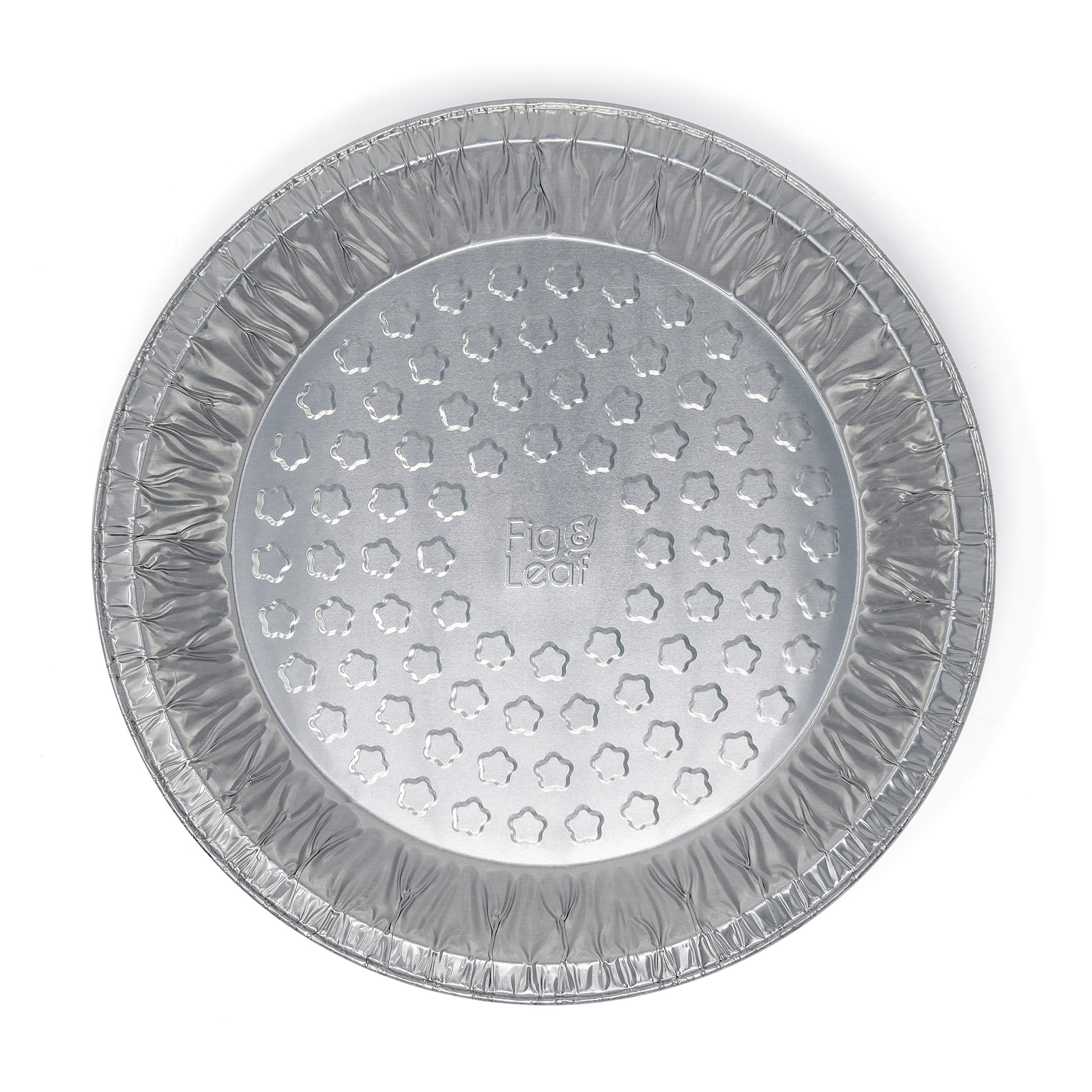 Fig & Leaf (120 Pack) Premium 9-Inch Pie Pans l 36 Gauge l Disposable Tart Pan Tin Plates Aluminum Foil for Baking Quiche by Fig & Leaf (Image #5)