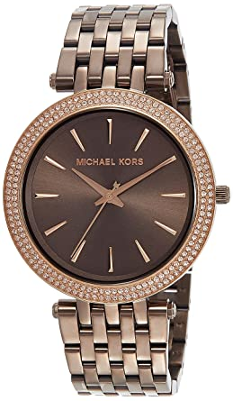 7364bb7e640b1 Amazon.com  Michael Kors Women s Darci Sable Brown Watch MK3416  Watches