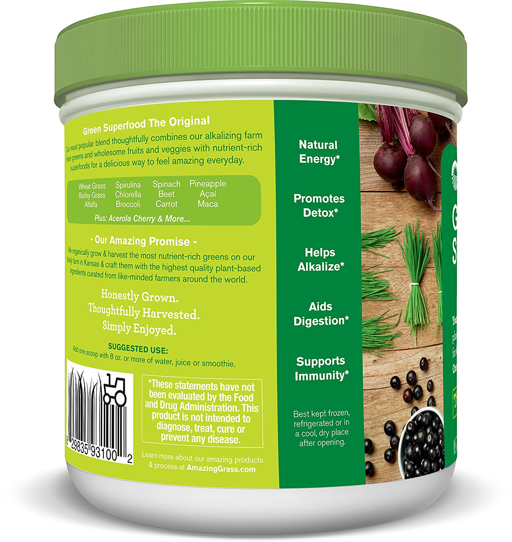 Amazon.com : Amazing Grass Green Superfood Original, 30 Servings ...