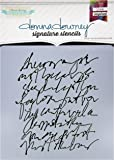 "Donna Downey Stencils Scribble Script Signature Stencils, 8.5"" by 8.5"""