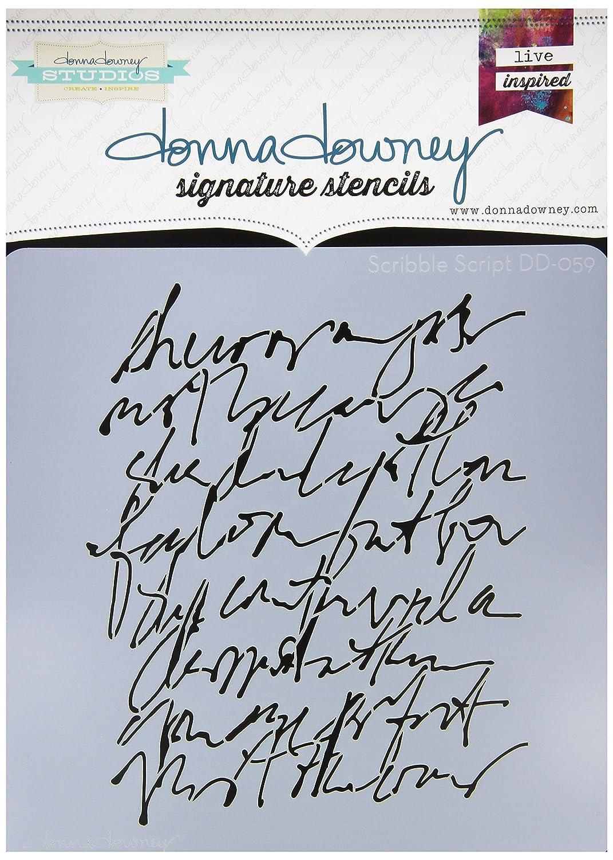 Donna Downey Schablonen Kunststoff Signature 21,6x 21,6cm, Scribble Script 6x 21 6cm Donna Downey Stencils DD-ST-59