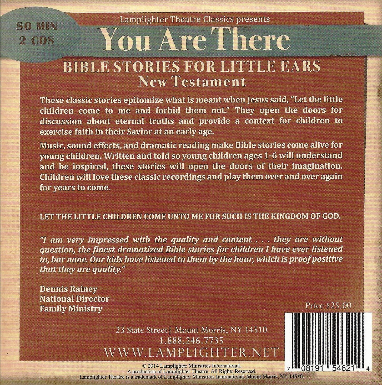 bible stories for little ears new testament lamplighter theatre