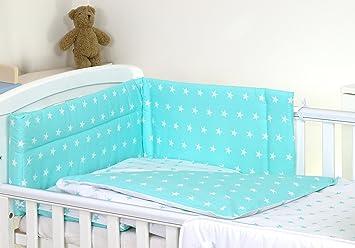 3 Baby Bettwäsche Set Für Kinderbett 120 X 60 Cm Mint Sterneweiß