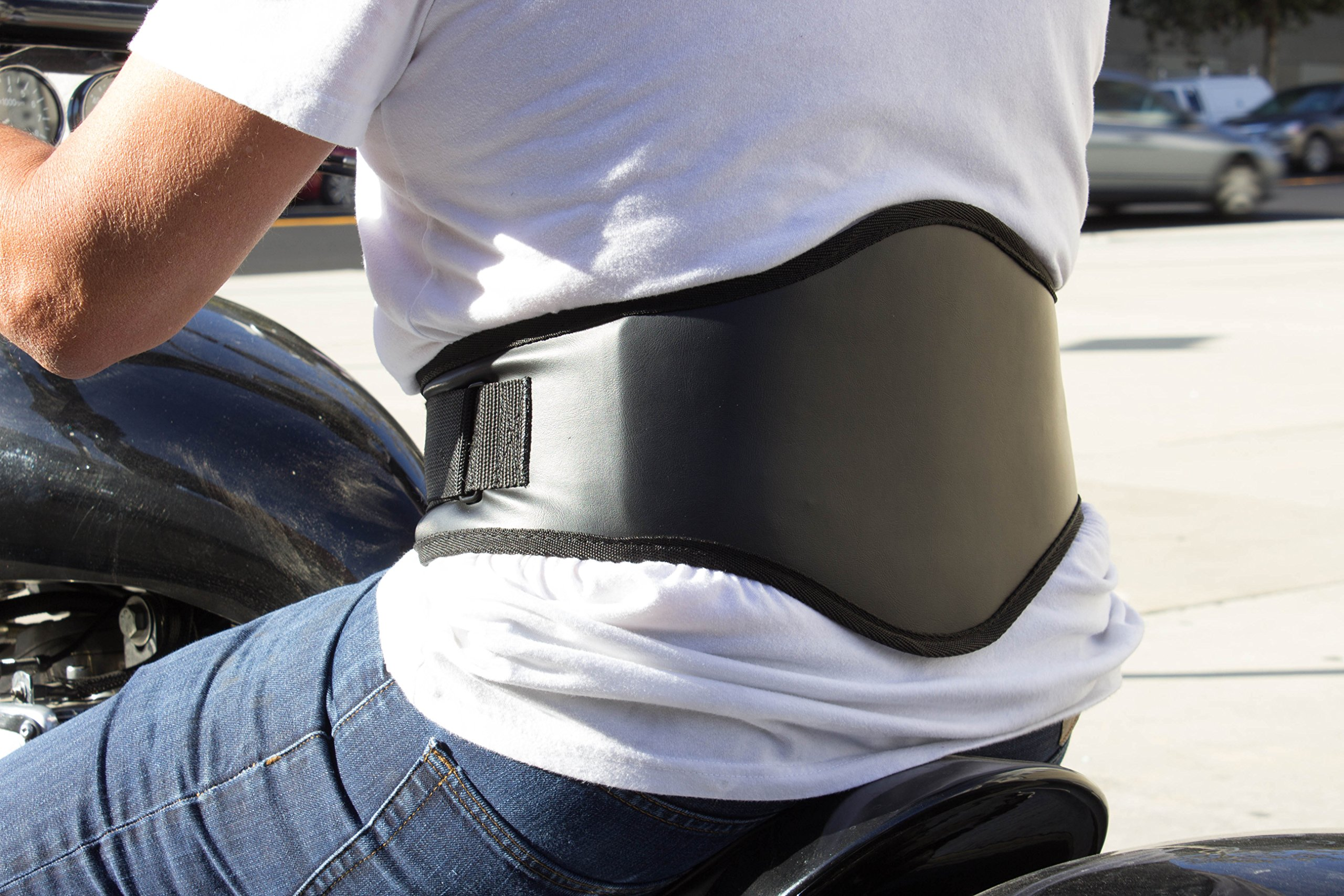 Back-A-Line MotoSport Kidney Belt, Leatherette, with Orthopedic Lumbar Pad (X-Large)