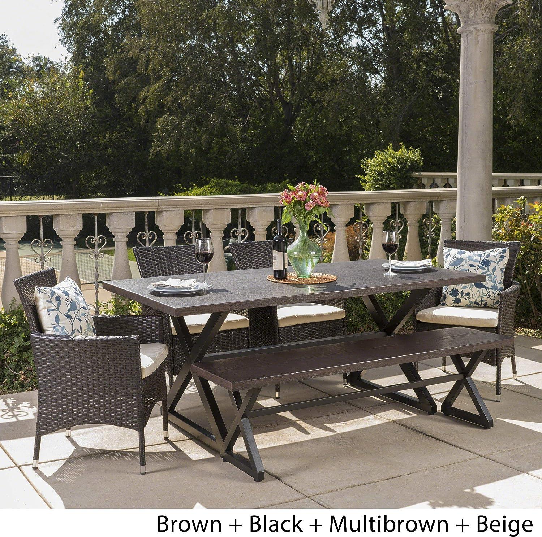 Egg Chair Stof.Amazon Com Christopher Knight Home Owenburg Outdoor 6 Piece Grey
