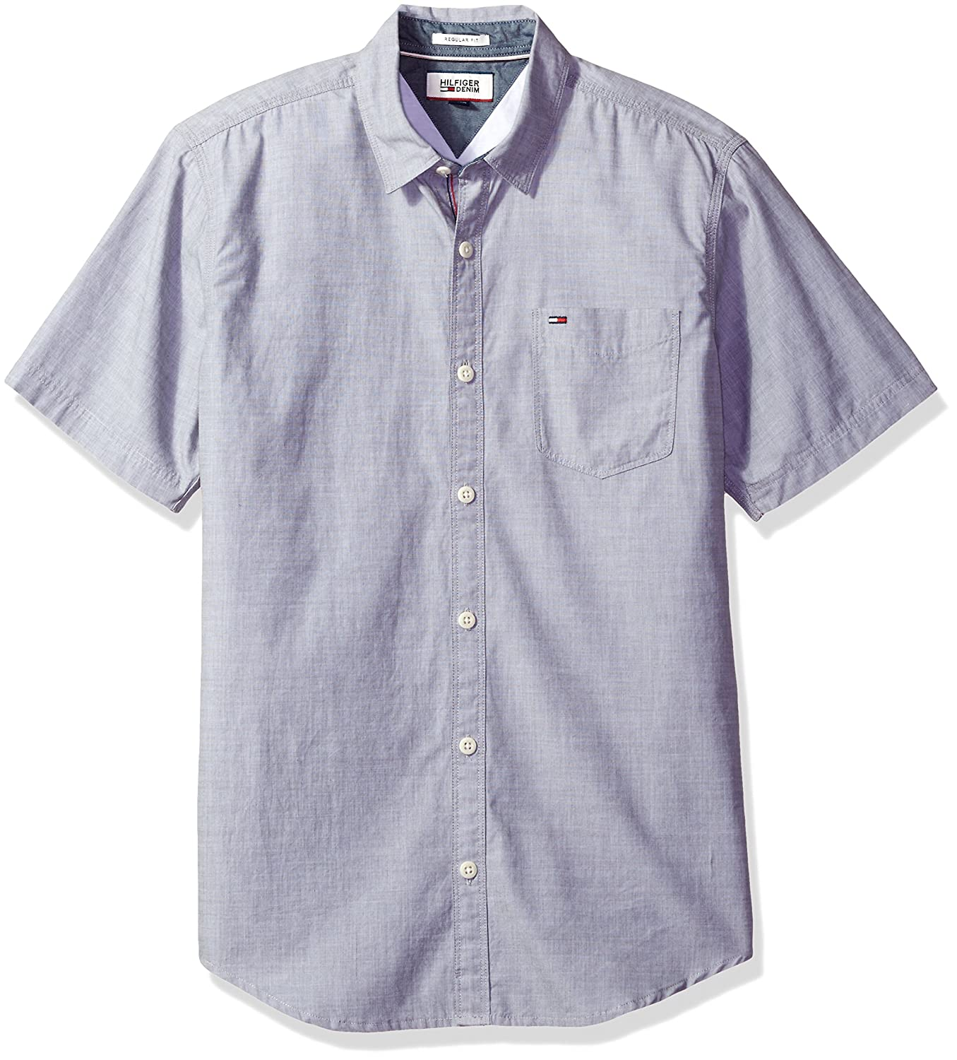 Tommy Hilfiger Men's Thdm Basic Solid Shirt Short Sleeve 8815092
