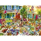 Buffalo Games - Aimee Stewart - Yard Sale - 1000 Piece Jigsaw Puzzle, Multi