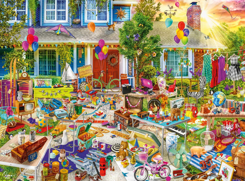 Buffalo Games - Aimee Stewart Yard Sale - 1000 Piece Jigsaw Puzzle by Buffalo Games