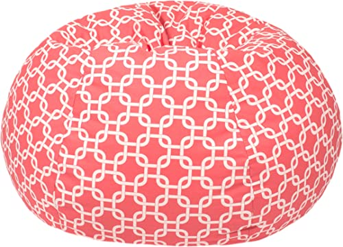 Gold Medal Bean Bags Gotcha Hatch Print Pattern Bean Bag, Medium Tween, Coral