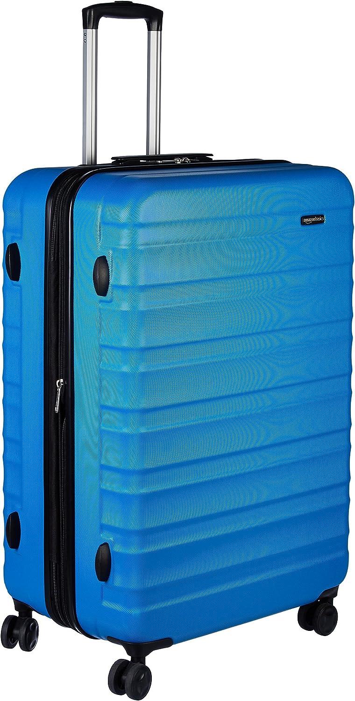 AmazonBasics - Maleta de viaje rígidaa giratoria - 78 cm, grande, Azul claro