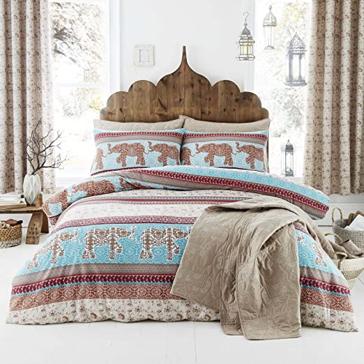 Catherine Lansfield - Juego de sábanas, 100% algodón, Multicolor, para Cama de Matrimonio, 1 x 260 x 280 cm, 3 Unidades: Amazon.es: Hogar