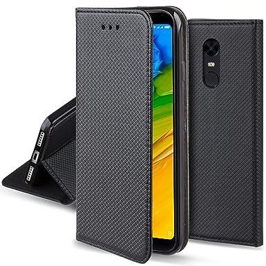 purchase cheap 1a111 f512f Moozy case Flip cover for Xiaomi Redmi 5 Plus, Black - Smart ...