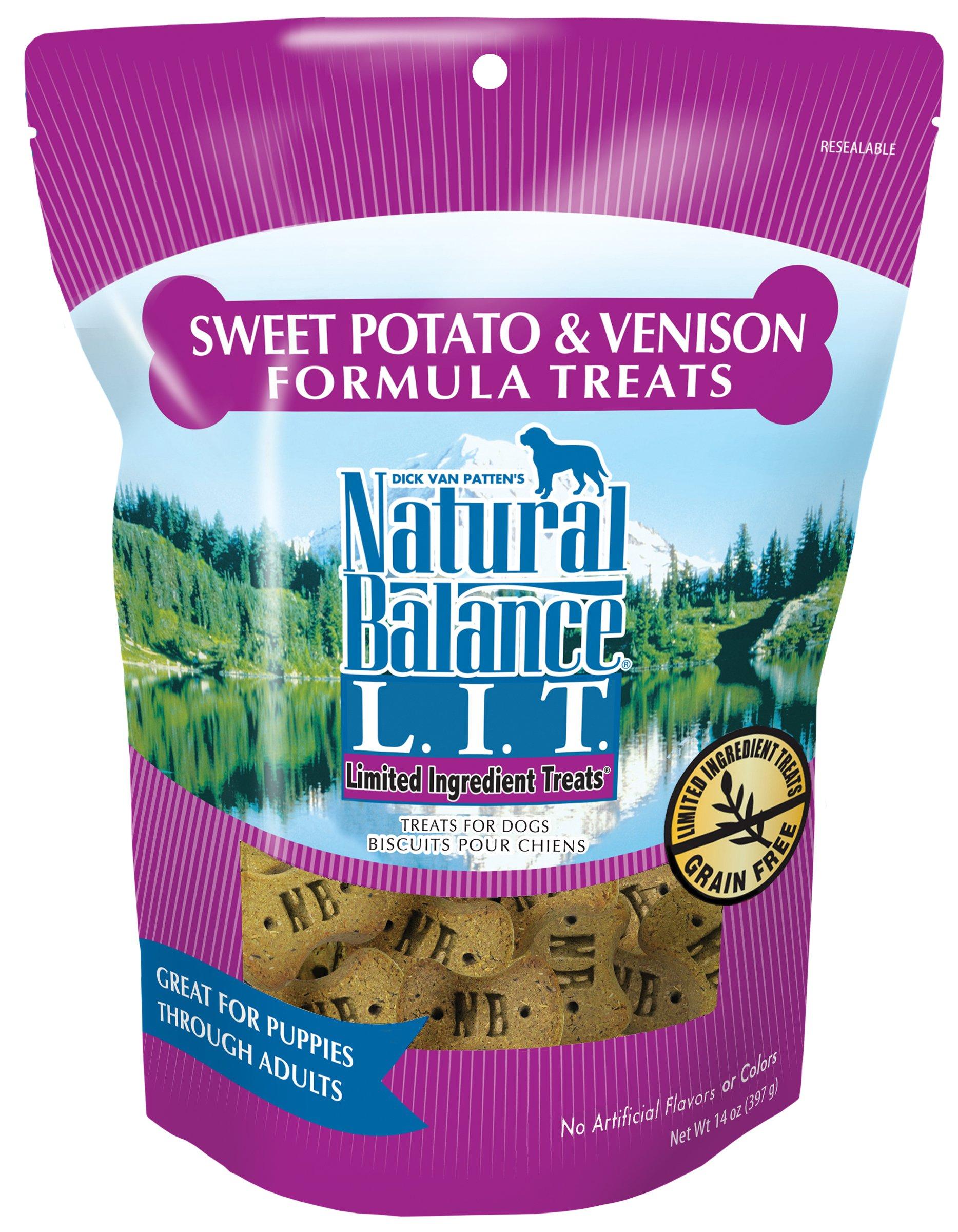 Natural Balance Limited Ingredient Dog Treats Sweet Potato & Venison 14 oz