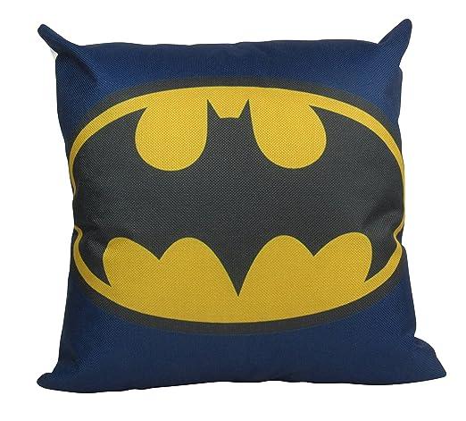 Alicert5II - Funda de cojín con Logotipo de Batman, 18 x 18 ...